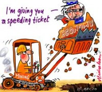 Rudd gives speeding ticket mining 226