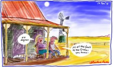 Heat wave central austalia cartoon 2012-01-12