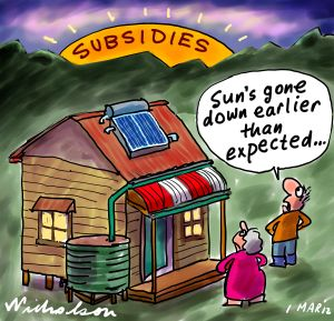 Image result for GWPF solar subsidies cartoon