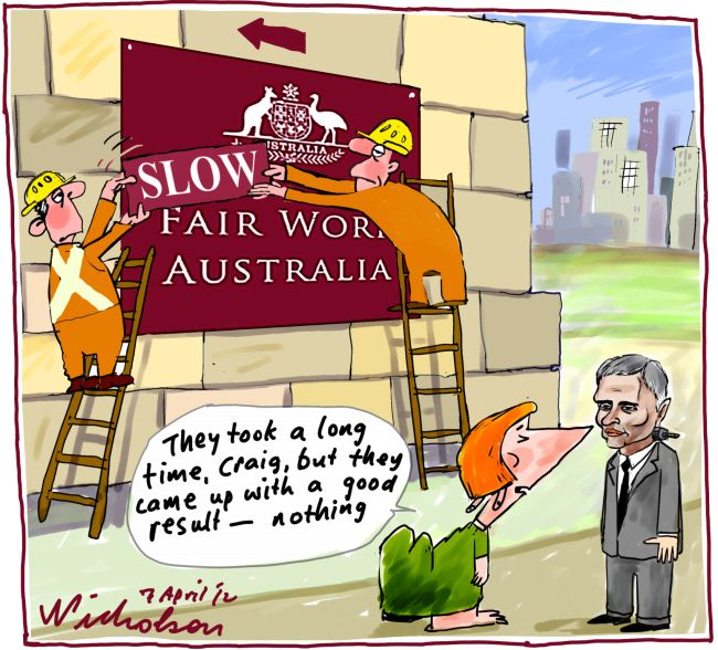 Slow Fair Work Australia Craig Thompson do nothing