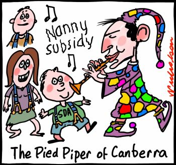 Nannies nanny policy Abbott union follow Pied