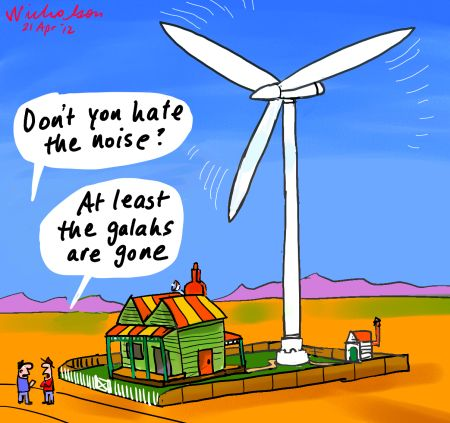 Farmers claim windfarms noise scares kills wildlife