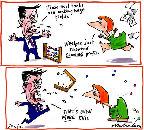 2012-05-05 evil banks get more evil interest rates profits Gillard Swan