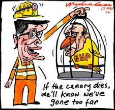 2012-05-17 Jac Nasser BHP hits unions costs taxes canary