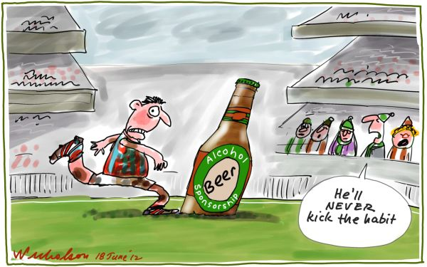 2012-06-18 Football alcohol sponsorship media