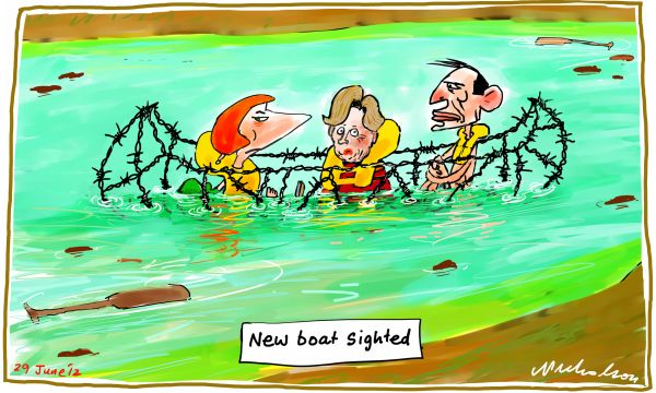 2012-06-29 Parliament frozen on asylum vote as new barbed wire boat sighted