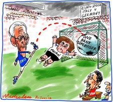 2012-06-30 Italy Spain kick goal over merkel in Euro summit