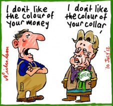 2012-07-10 Greens accused of being snobbish on blue collar concerns