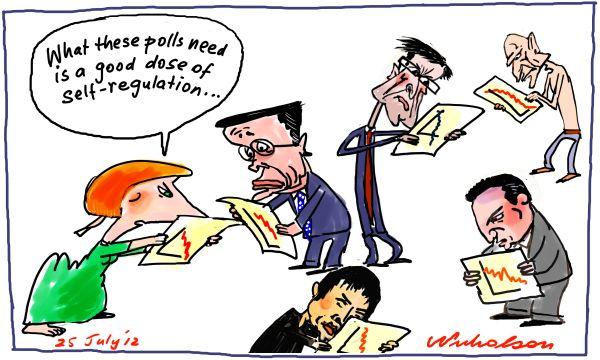 2012-07-25 opinion polls not good enough self-regulation Gillard