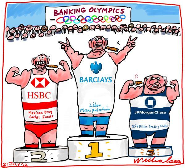 2012-07 Banking Olympics Barclays HSBC JPM Chase stuff-ups Business
