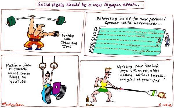 2012-08-06 Olympic athletes addicted to Social Media new event