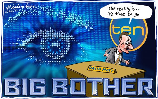 2012-08-27 Channel 10 abysmal rating David Mott quits Big Brother Media