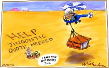 Dick Smith named most quotable personality Media cartoon 2012-09-17