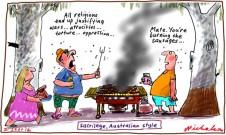 Prophet film cartoon insult discussion religion sacrilege Australian style BBQ 2012-09-21