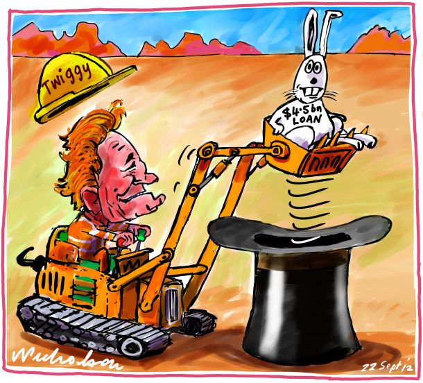 Twiggy Forrest FMG iron ore loan rabbit