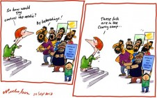 Media regulation Finkelstein Conroy Prophet insults beheading cartoon 2012-09-24