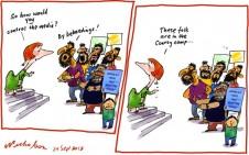 Media regulation Finkelstein Conroy Prophet insults beheading cartoon 2012-09-24