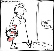 Margaret Abbott defends Tony on women unpublished cartoon 2012-10-06