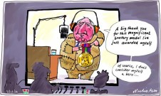 2012-10-09 Alan Jones bravery award cartoon