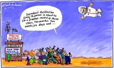 Craig Thomson Fair Work Australia civil charges free fall cartoon 2012-10-16