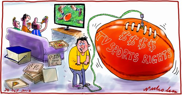 TV Sports Rights massive increase Media 2012-10-29