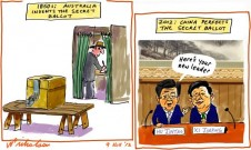 Xi Jingping China new leadership announced secret ballot cartoon 2012-11-09