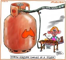 Martin Ferguson gas LNG white paper export plan business cartoon 2012-11-10