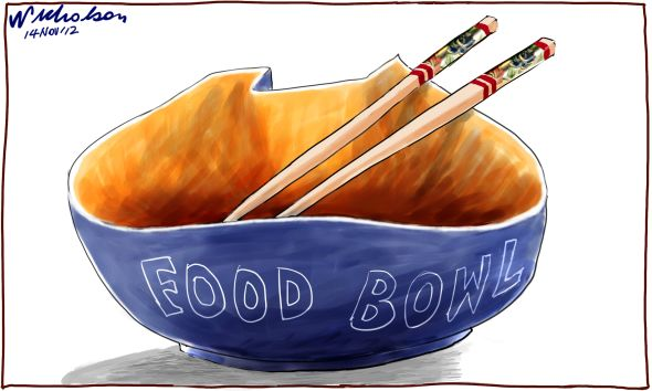 Ord River Scheme #2 goes to Zhongfu corporation China cartoon 2012-11-14