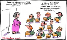 Chinese leadership system contrat with Australia cartoon 2012-11-16