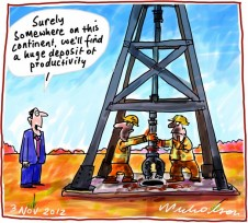 Lucky Country must rely on productivity not just mineral riches business cartoon 2012-12-03