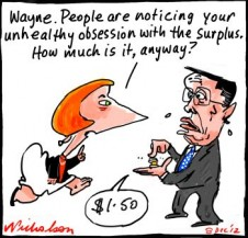 Wayne swan fetish with budget surplus cartoon 2012-12-08