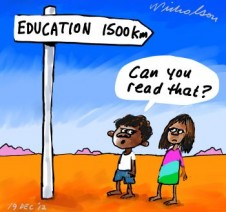 Remote and indigenous children do less well in education says NAPLAN cartoon 2012-12-19