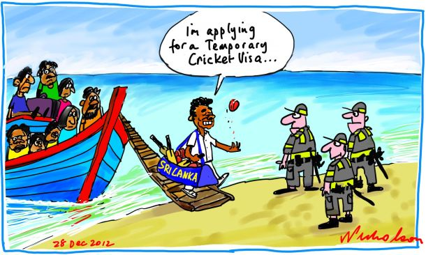Sri Lanka cricket team pounded in Boxing Day Test rescue cartoon 2012-12-28