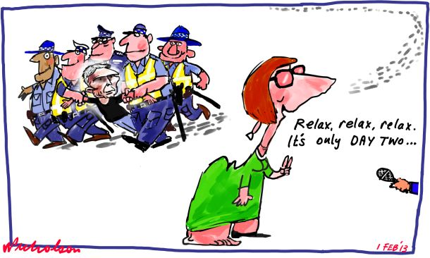 Craig Thomson arrested Day Two cartoon 2013-02-01