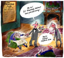 Old style clubs like Melbourne Club losing members, on the wane for Business contacts cartoons 2013-02-02