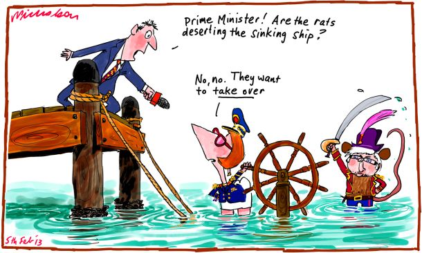 Julia Gillard says rats not desert ship Kevin Rudd cartoon 2013-02-05