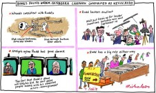 Bones found under Canberra carpoark. Not Richard III but Kevin Rudd cartoon 2013-02-06