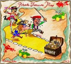 Pirate treasure map Swan Gillard to raid superannuation cartoon 2013-02-09