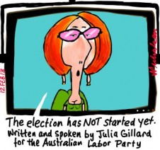 TV channels treat all ads as election ads from now on Julia Gillard cartoon 2013-02-12