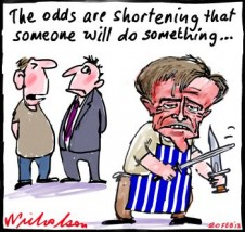 Odds Shorten on Bill leadership action Gillard cartoon 2013-02-20