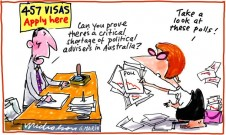 457 visas and Julia Gillard staff appointments cartoon 2013-03-06