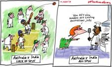 Julia Gillard 457 visas India vs Australia cricket test cartoon 2013-03-07