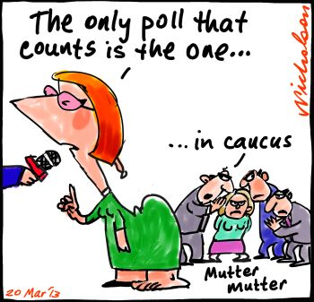 Gillard only poll that counts leadership cartoon 2013-03-20