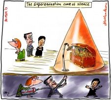 Superannuation cone of silence Gillard Swan Penny Wong 2013-03-30