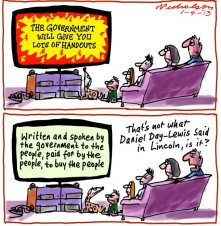 Government sponsored Election ads for the people Media cartoon 2013-04-01