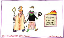 Sex abuse inquiry celibacy and hypocrisy unpublished cartoon rough 2013-04-03