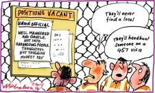 Visas for union officials headhunt 347 visa cartoon 2013-04-05