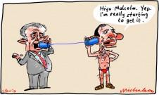 Malcolm Turnbull contacts broadband Tony Abbott cartoon 2013-04-11