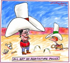Labor fakes Agriculture Policy cartoon business 2013-04-20