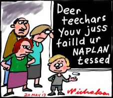 NAPLAN not used effectively by teachers cartoon 2013-05-20